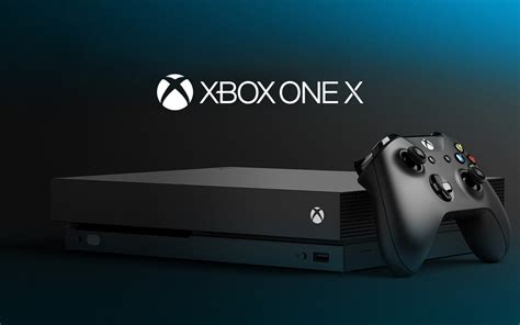 Wallpaper Xbox One X, 4K gaming console, Microsoft, Games