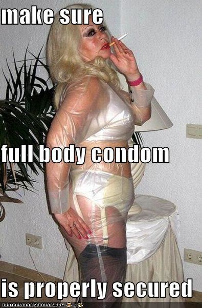 make sure full body condom is properly secured