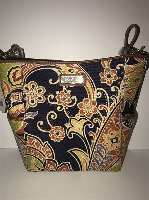 Spartina 449 Elfrida Signature Leather Hobo New with Tags