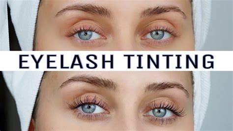 TINTING MY OWN LASHES AT HOME - YouTube