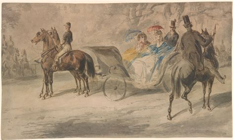 Constantin Guys | Women in a Carriage with Men on