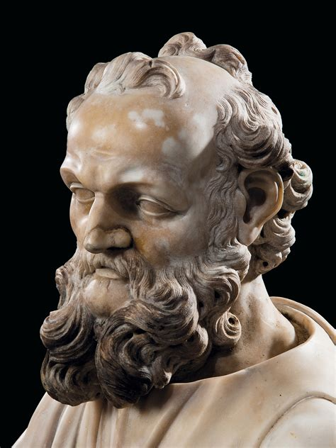 A MARBLE BUST OF A PHILOSOPHER , ITALIAN, PROBABLY ROME