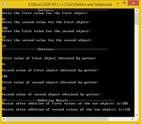 Setter and Getter functions in C++ | Free Source Code