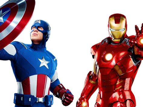 Marvel The Avengers Captain America And Iron Man Movie